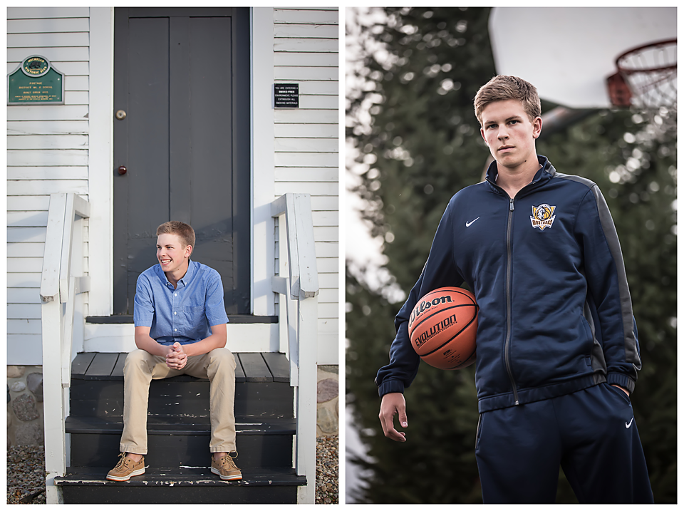 Basketball senior pictures Portage Central