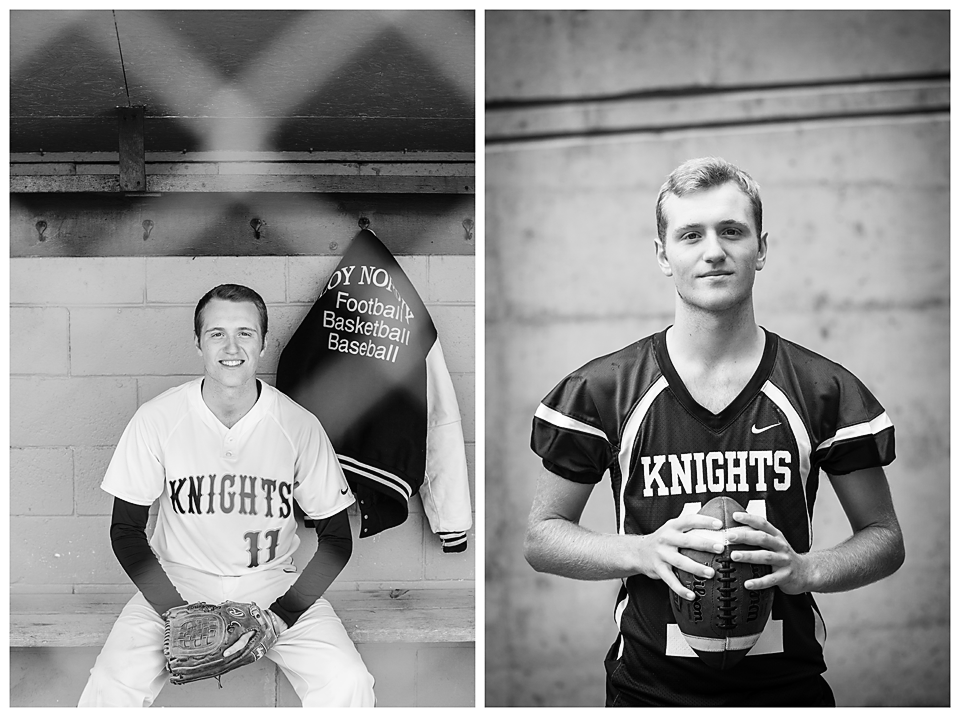 Baseball and football senior pictures Loy Norrix
