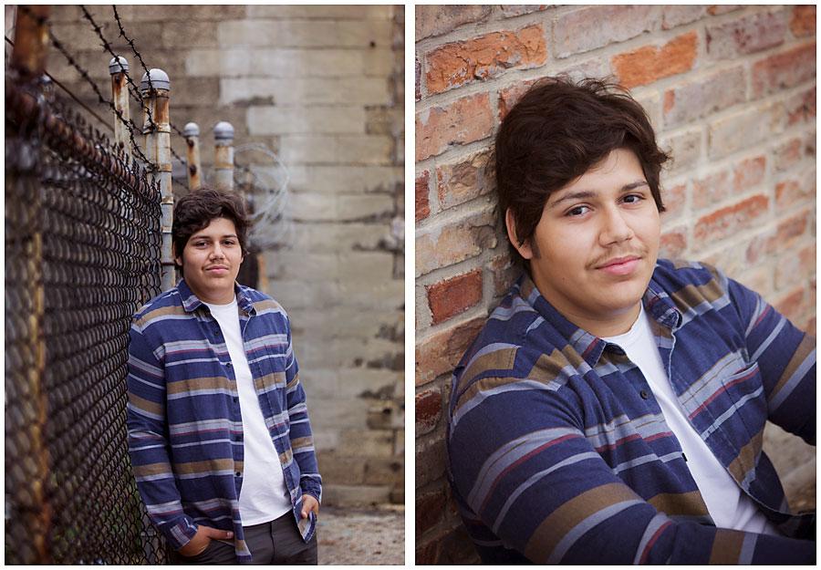 urban senior boy in kalamazoo