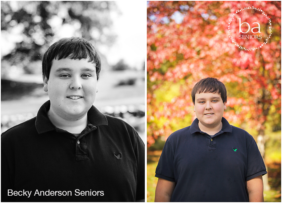 fall color change senior pictures in kalamazoo