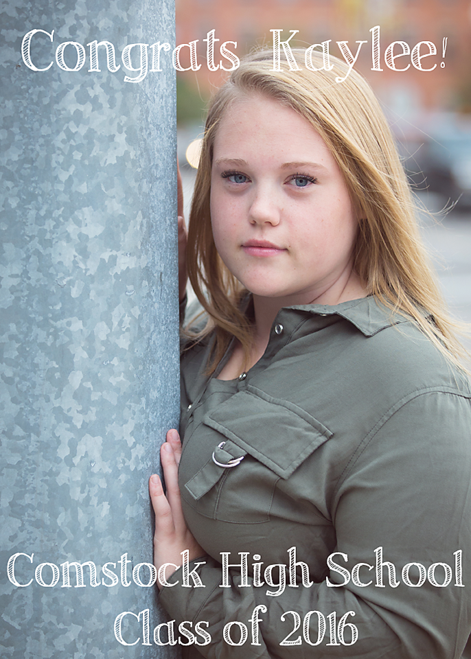Kaylee class of 2016 comstock