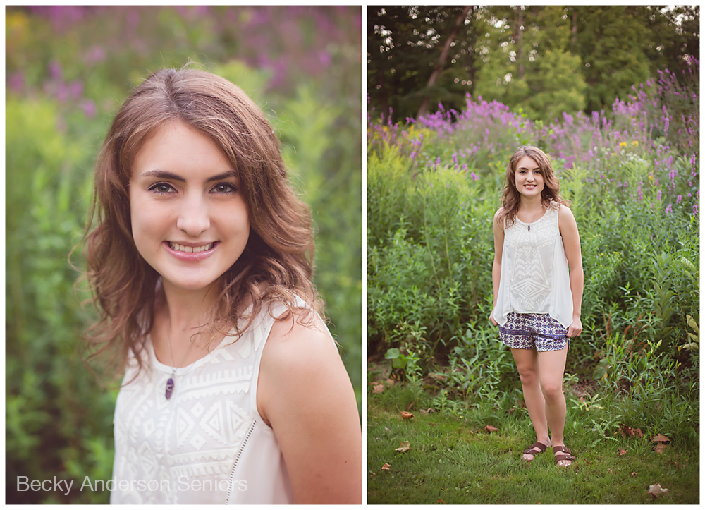 wildflowers and senior portraits