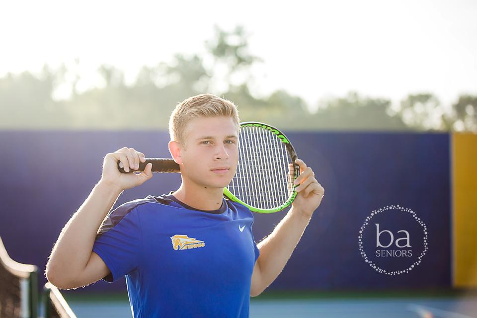PCHS Tennis Senior Andrew Beering