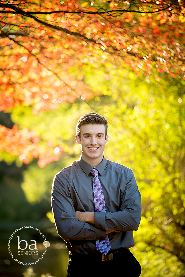 Fall boy senior pictures at milham park