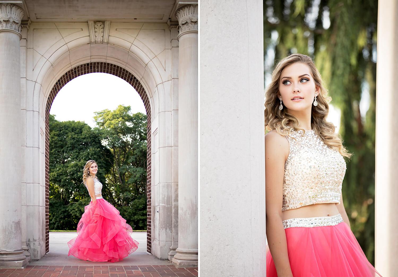 Prom dress shoot kalamazoo senior pictures