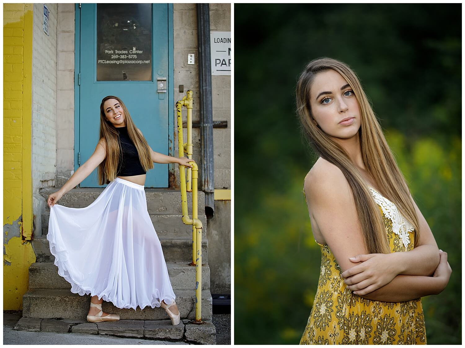 Dance and summer senior pictures in kalamazoo