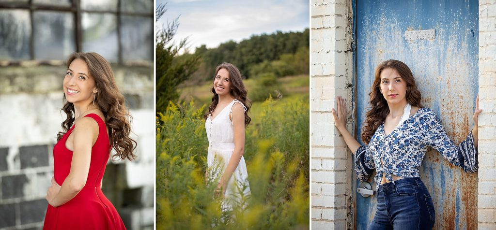 Becky Anderson Seniors Signature Session with 3 different outfits to show variety