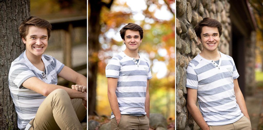 Senior minisession example showing one outfit and one location